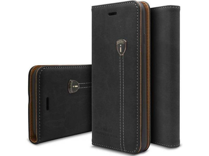 iHosen iHosen Leather Book Case Zwart voor de iPhone X