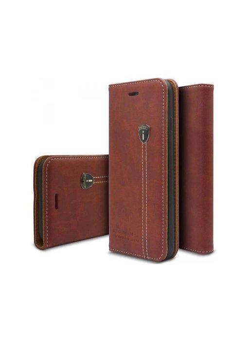 iHosen Leather Book Case Bordeaux Rood voor de iPhone X / Xs