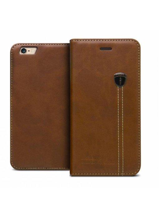 iHosen Leather Book Case Bruin voor de iPhone X