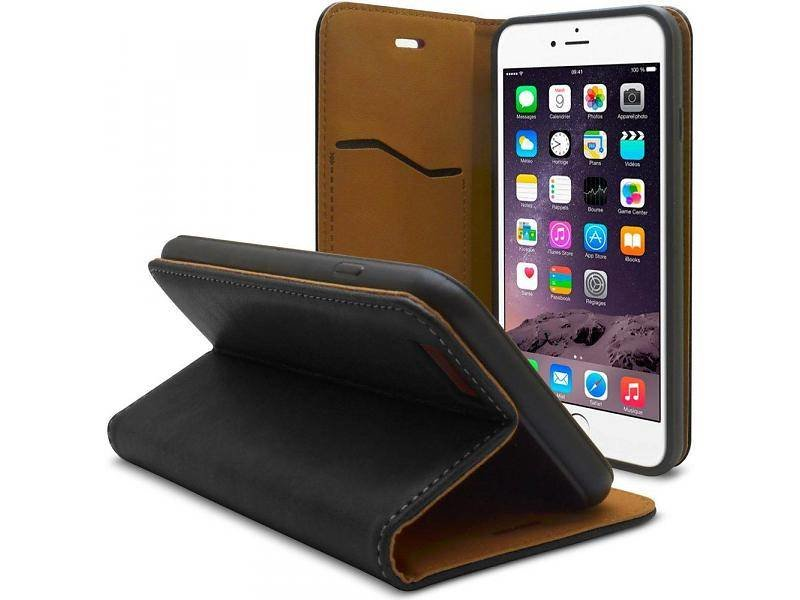 iHosen iHosen Leather Book Case Zwart voor de iPhone 7/8 Plus