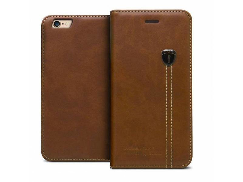 iHosen iHosen Leather Book Case Bruin  voor de iPhone 7/8 Plus