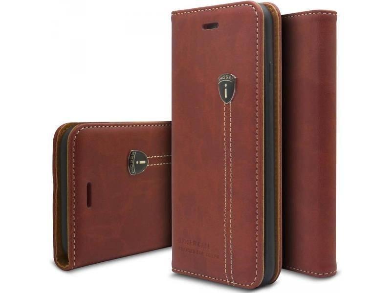 iHosen iHosen Leather Book Case Bordeaux Rood voor de iPhone 7/8