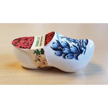 Delfts blauwe bloemen Klomp(hout)- Brandende Liefde