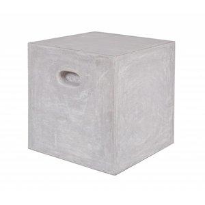 WOOOD Bijzettafel Stone vierkant lichtgrijs