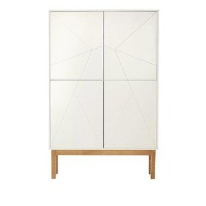 06 Design Cabinet blanc / bois