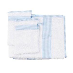 Les Reves Anais handdoek met twee washandjes Phenix Blue