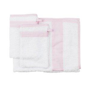 Les Reves Anais handdoek met twee washandjes Phenix Pink