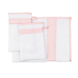 Les Reves Anais handdoek met twee washandjes Pink Bow