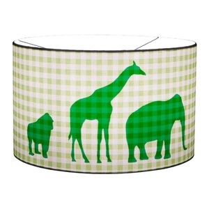 Little Dutch hanglamp silhouette dierenparade lime groene ruitje