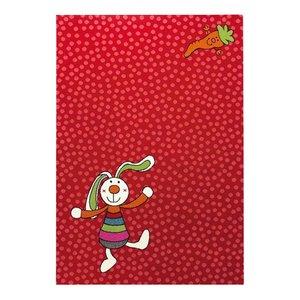 Sigikid vloerkleed Rainbow Rabbit rood