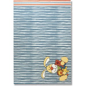 Sigikid vloerkleed Semmel Bunny blauw