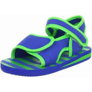 Playshoes watersandaaltjes blauw met groene strepen