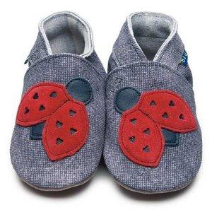 Inch Blue babyslofjes ladybird denim