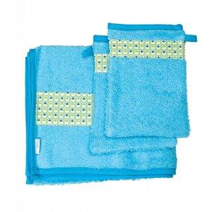 Trixie Baby handdoek met washandjes Philo Green