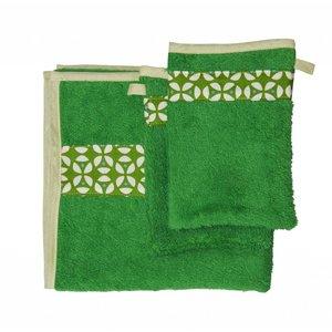 Trixie Baby handdoek met washandjes Geo Green