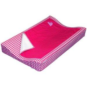 Taftan aankleedkussenhoes met deken fuchsia