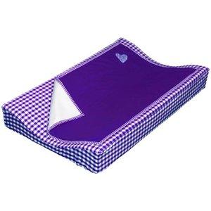 Taftan aankleedkussenhoes met deken paars