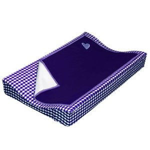 Taftan aankleedkussenhoes met deken donkerblauw