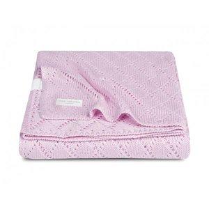 Little Naturals deken bamboe Crochet light pink