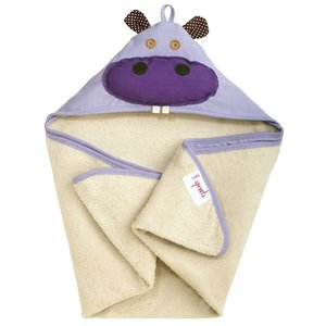 3Sprouts Hooded Towel Hippo