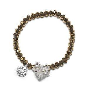 Proud MaMa armband Charm goud beads