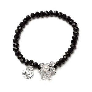 Proud MaMa armband Charm zwart beads