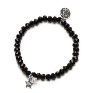 Proud MaMa armband Charm zwart ster