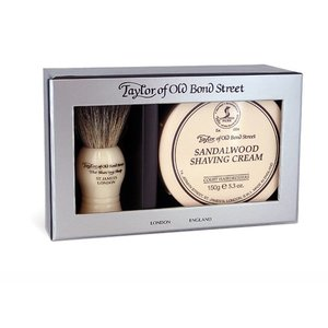 Taylor of Old Bond Street Sandelwood Giftbox Pure Badger & Shavingcream