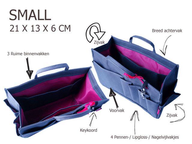 Bag in Bag - Small - Classic - Grijs