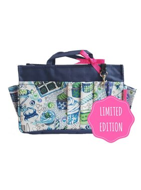 Bag in Bag - Medium - Limited Edition - Blauw / Cupcakes