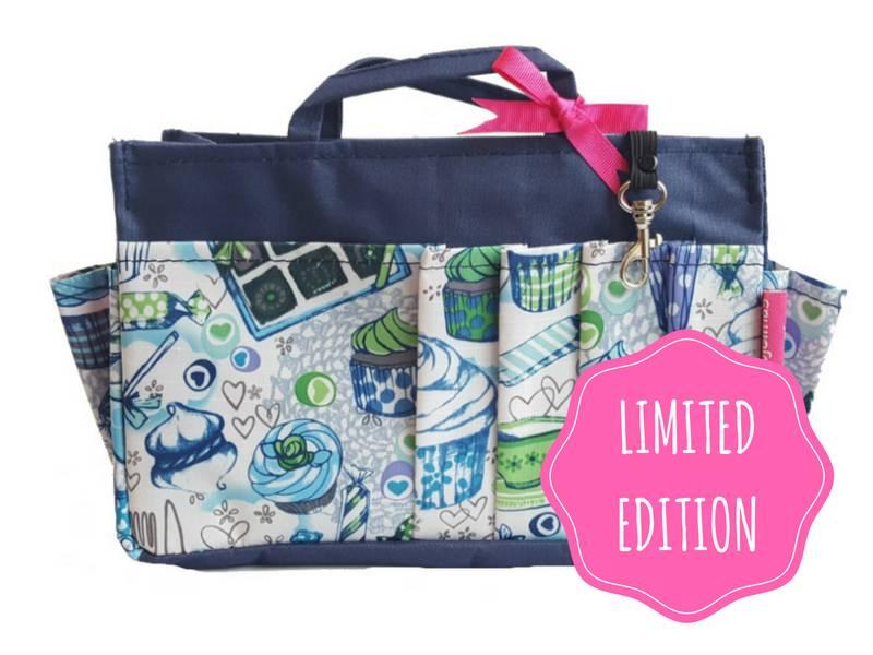 Bag in Bag - Medium - Limited Edition - Blauw - Cupcakes
