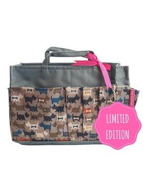 Bag in Bag - Large - Limited Edition - Grijs / Hondjes