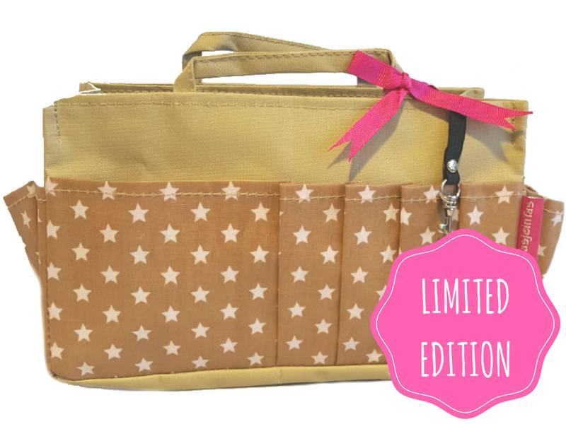 Bag in Bag  Medium  Limited Edition  Khaki / Sterretjes