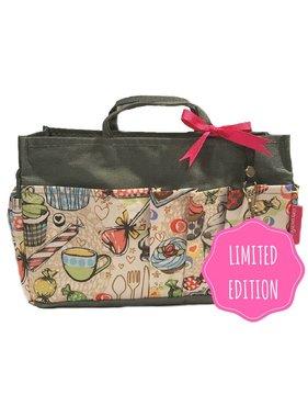 Bag in Bag - Medium - Limited Edition - Grijs / Cupcakes
