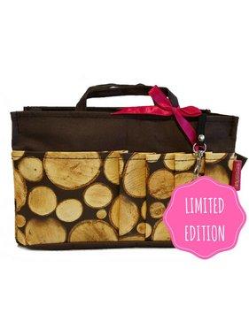 Bag in Bag - Medium - Limited Edition - Bruin / Boomstammetjes