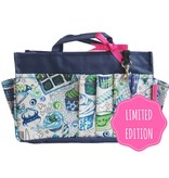 Bag in Bag  Large  Limited Edition  Blauw / Cupcakes