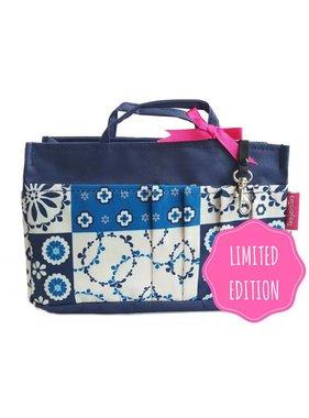 Bag in Bag - Medium - Limited Edition - Blauw / Tegeltjes