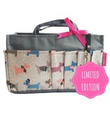 Bag in Bag - Medium - Limited Edition - Grijs / Gehaakte Hondjes