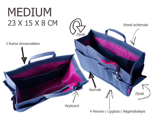 Bag in Bag  Medium  Limited Edition  Khaki / Stars