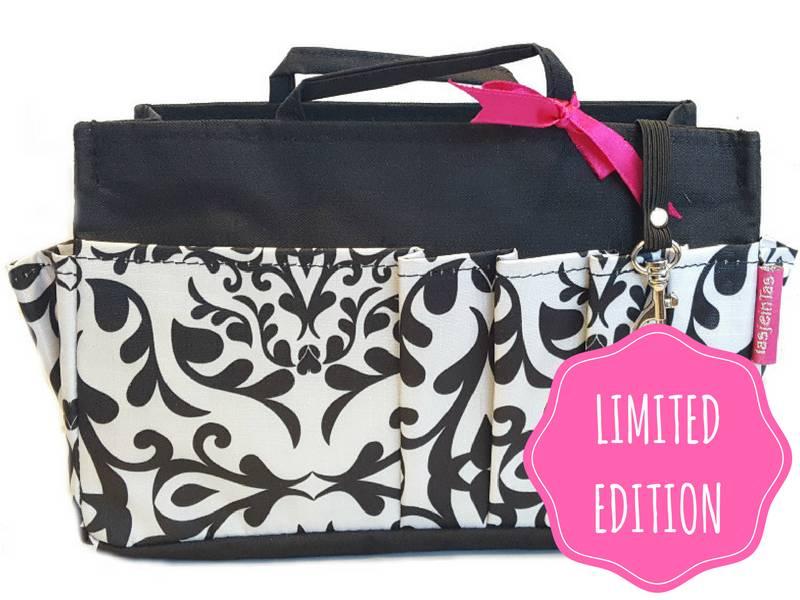 Bag in Bag  Medium  Limited Edition  Zwart / Swirl