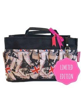 Bag in Bag - Medium - Limited Edition - Zwart / Londen