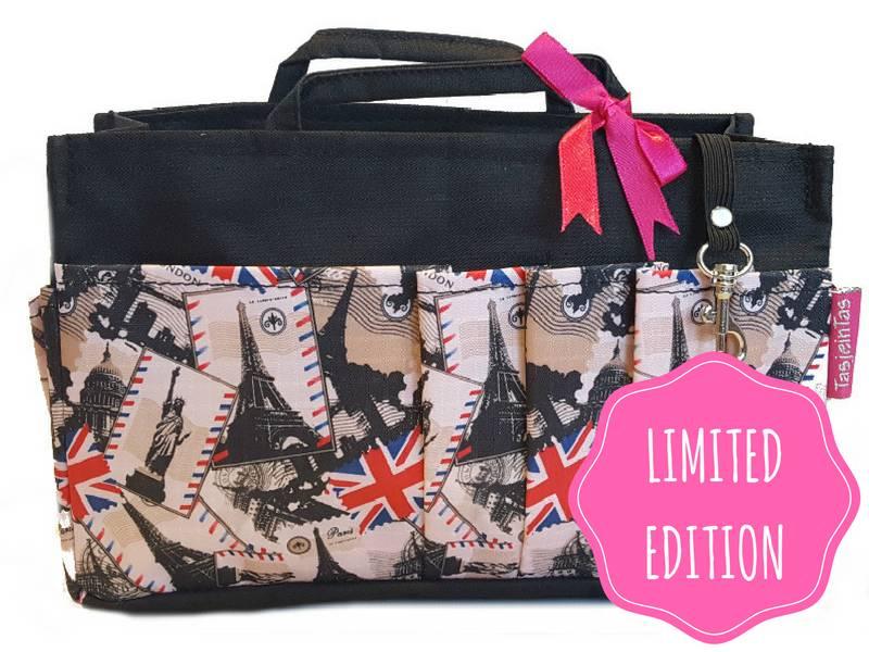 Bag in Bag - Medium - Limited Edition - Zwart - Londen