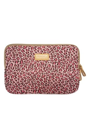 14inch Dames Laptop sleeve Roze Luipaard