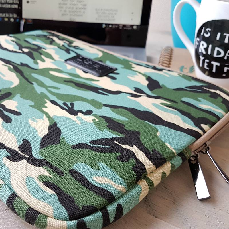 15inch Dames Laptop Sleeve Combat Blue