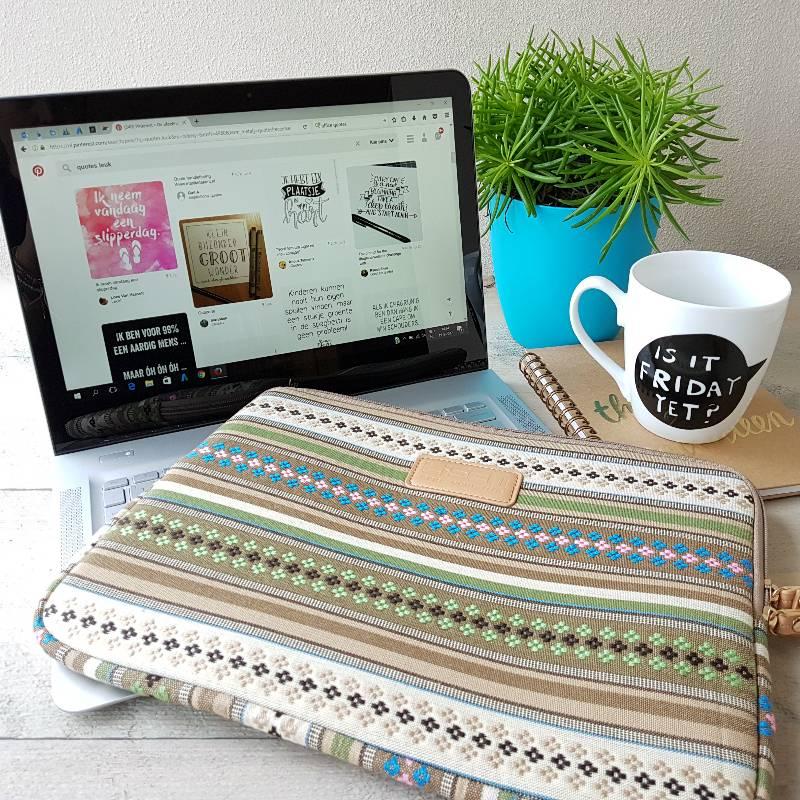 13inch Dames Laptop Sleeve Basic Stripes