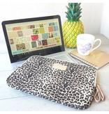 13inch Dames Laptop sleeve Bruin Luipaard