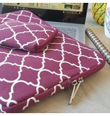 14inch Dames Laptop Sleeve Persian Wijnrood