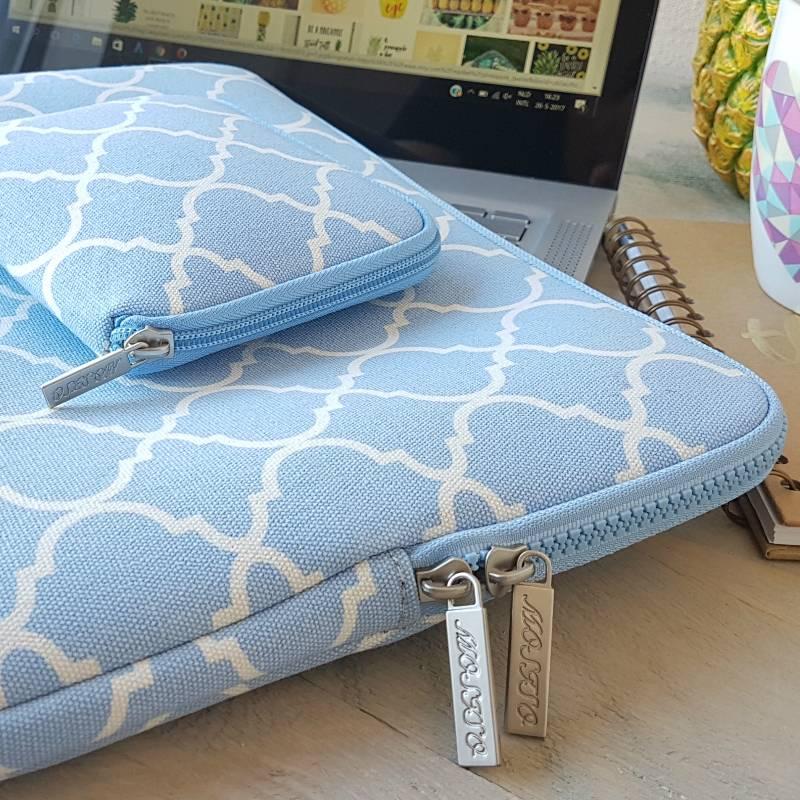 13inch Dames Laptop Sleeve Persian Lichtblauw