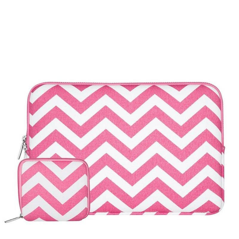 15inch-Dames-Laptop-sleeve-Zigzag-Roze