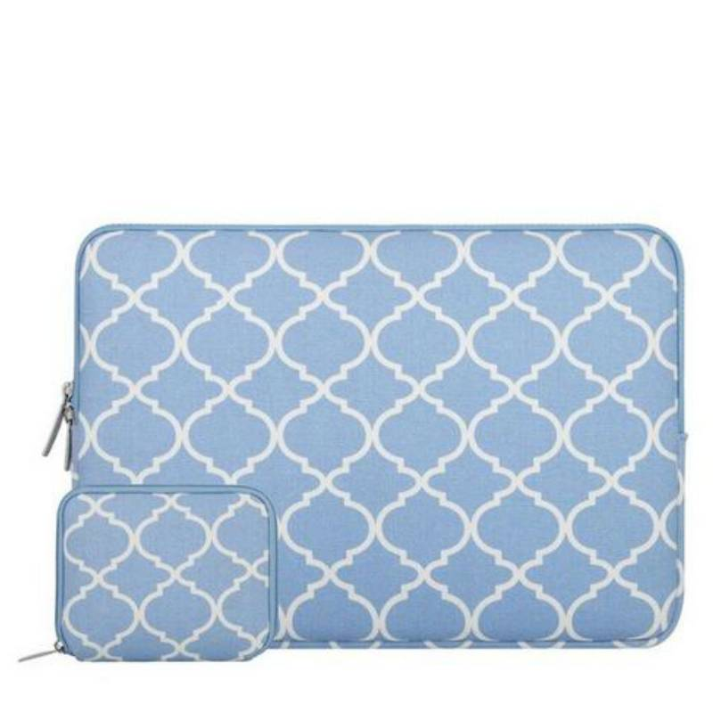 14inch Dames Laptop Sleeve Persian Lichtblauw